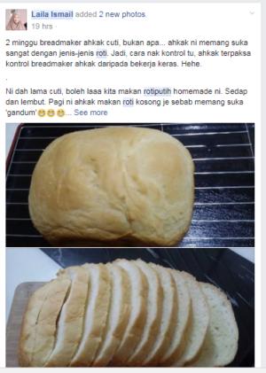cara buat roti putih homemade guna breadmaker BM